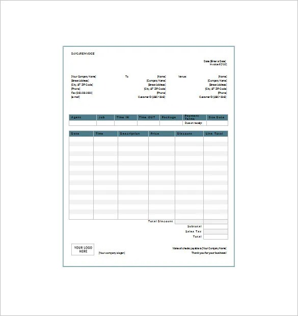 Daycare Receipt Template - 13+ Free Sample, Example, Format - daycare invoice template