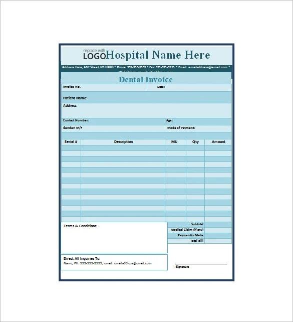 13+ Dental Receipt Templates - DOC, PDF Free  Premium Templates