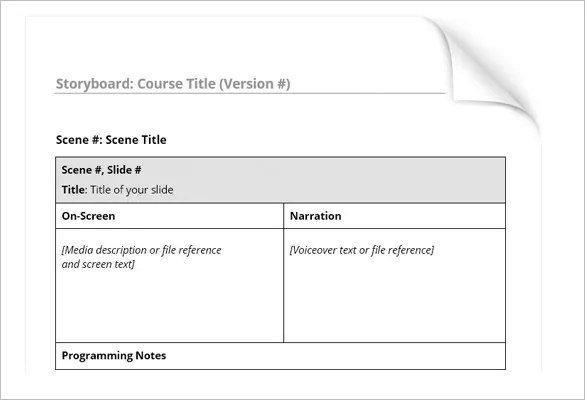 Simple Storyboard Template \u2013 8+ Free Sample, Example, Format - sample video storyboard template