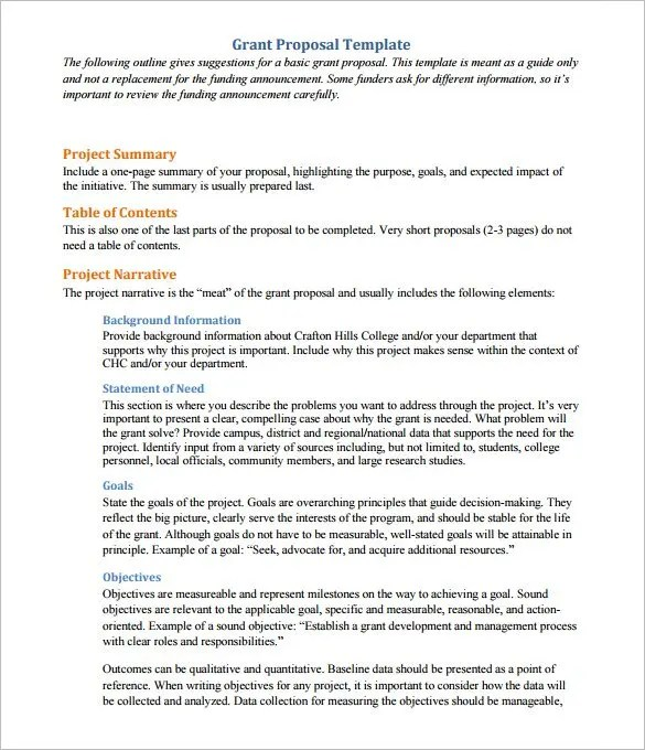 Sample Proposals - funding proposal template
