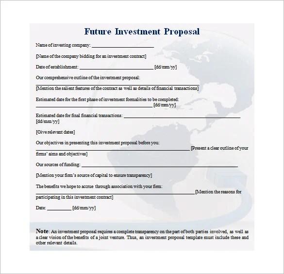 28+ Investment Proposal Templates - PDF, DOC Free  Premium Templates