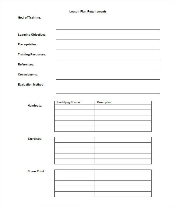 Lesson Plan Outline Template \u2013 12+ Free Sample, Example, Format
