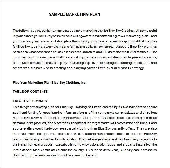 Marketing Proposal Template - 34+ Free Sample, Example, Format