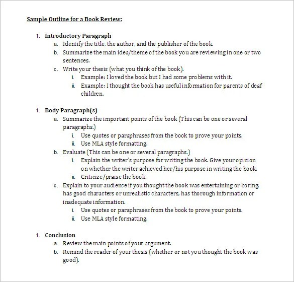 Book Outline Template \u2013 6+ Free Sample, Example, Format Download - book outline template