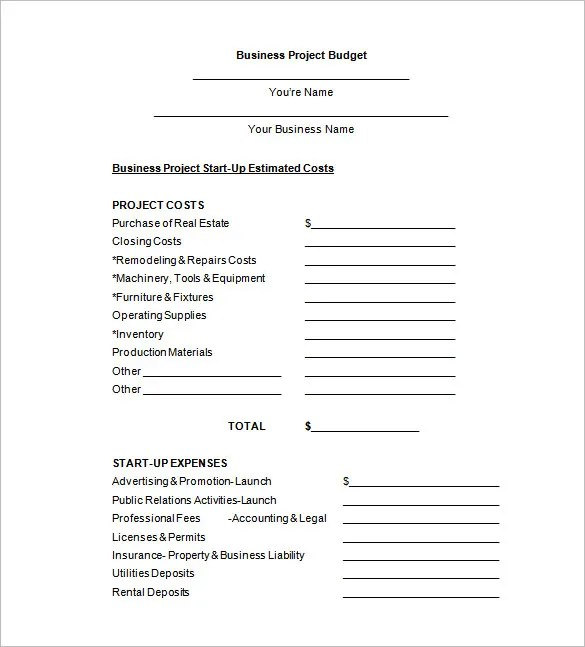 Budget Proposal Templates - 11+ Free Sample, Example, Format
