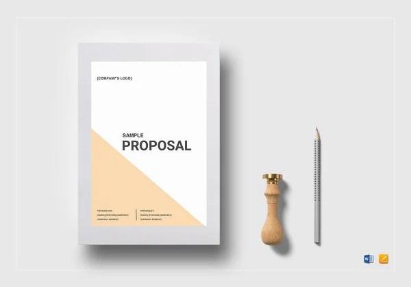 Proposal Templates \u2013 140+ Free Word, PDF, Format Download! Free - microsoft word proposal template free download
