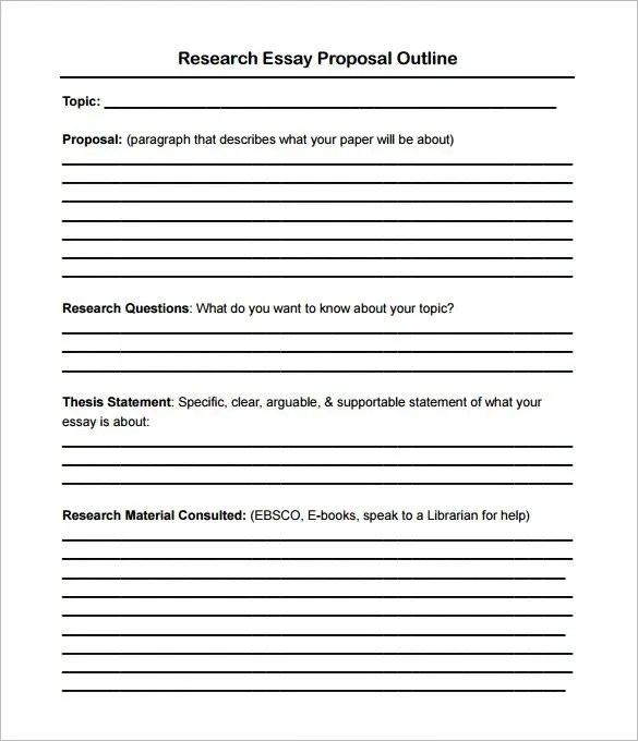 14+ Proposal Outline Templates - DOC, PDF Free  Premium Templates - project proposal template sample