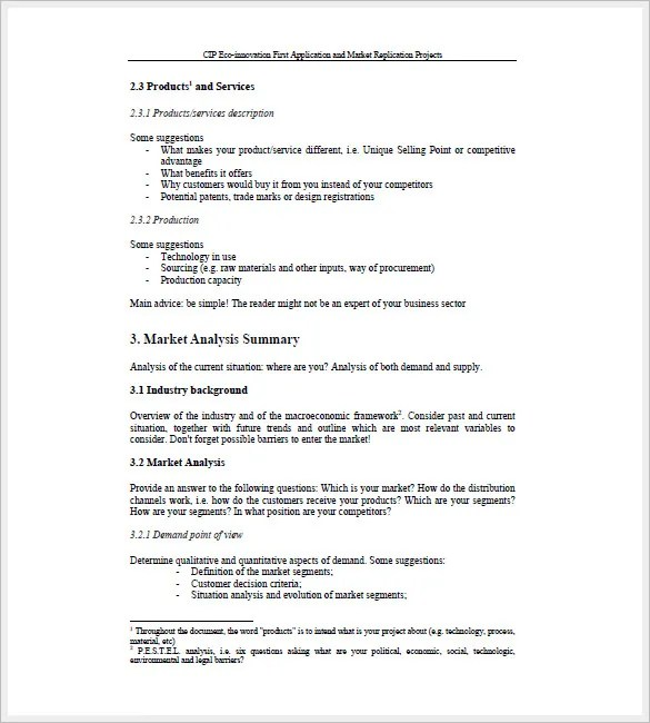 Sales Business Plan Template - 10+ Free Sample, Example Format - sales plan format