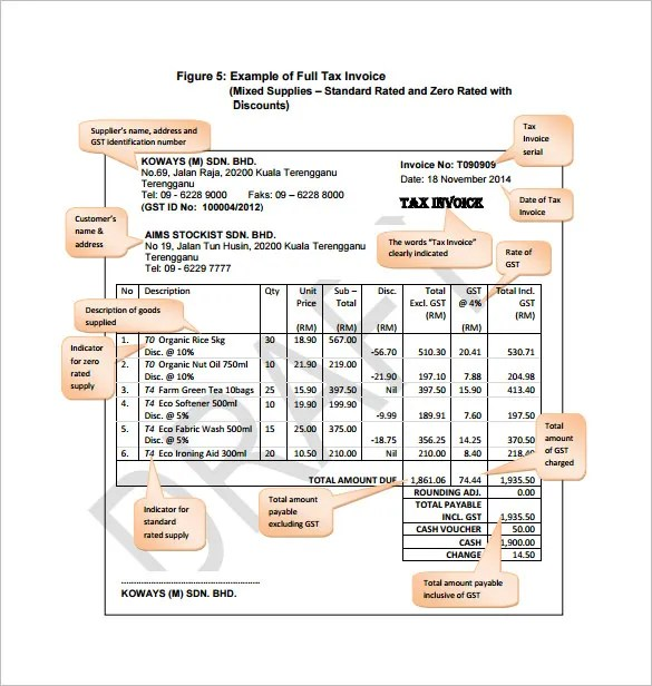 Invoice Template - 53+ Free Word, Excel, PDF, PSD Format Download - australian invoice template