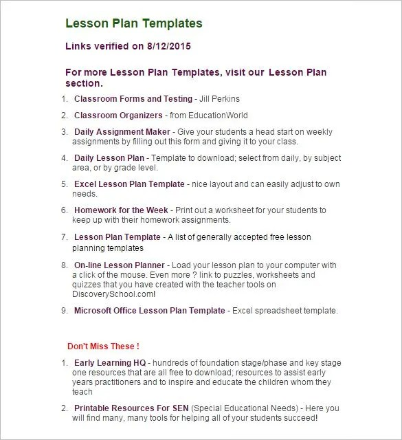 Lesson Plan Outline Many People Want To Be Teachers It Looks Like - free lesson plan format