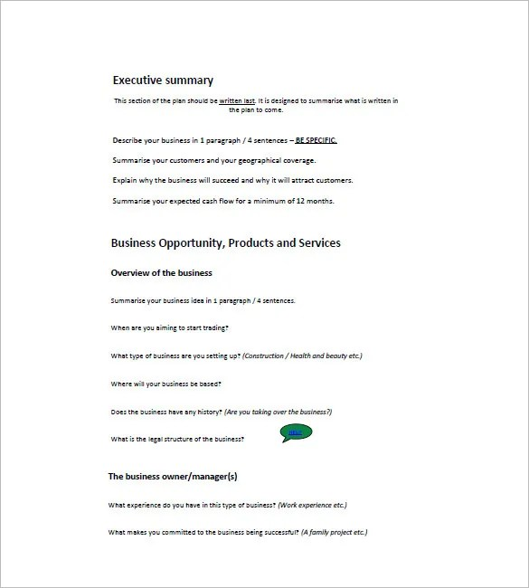 small business plan outline - Forteeuforic