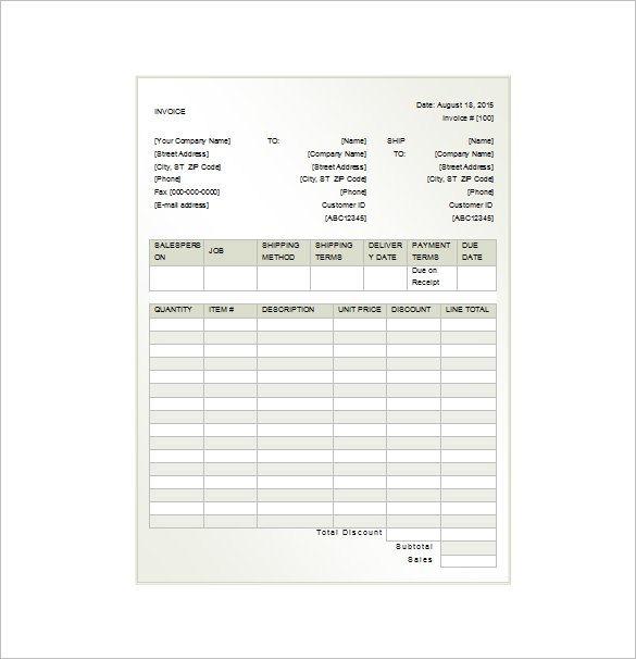 8+ Invoice Receipt Templates - DOC, PDF Free  Premium Templates