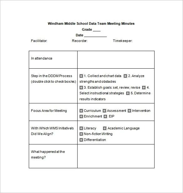 sample of meeting minutes format - Tachrisaganiemiec