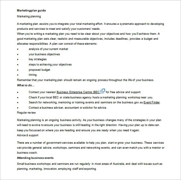 Marketing Plan Outline Template - 13+ Free Sample, Example, Format