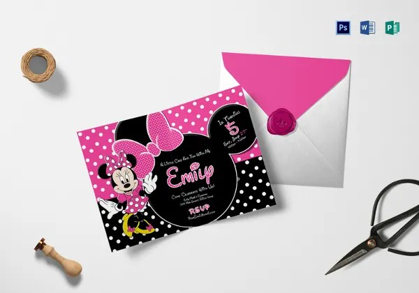 28+ Minnie Mouse Invitation Template - Free Sample, Example, Format