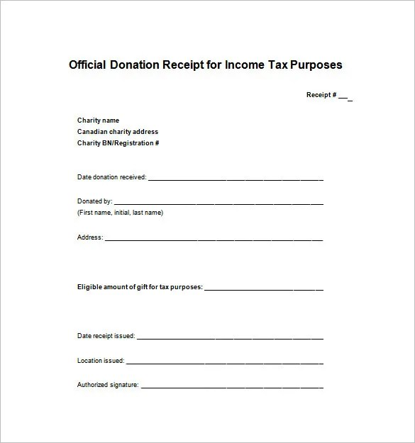 Receipt Template - 122+ Free Printable Word, Excel, AI, PDF Format - official receipt template