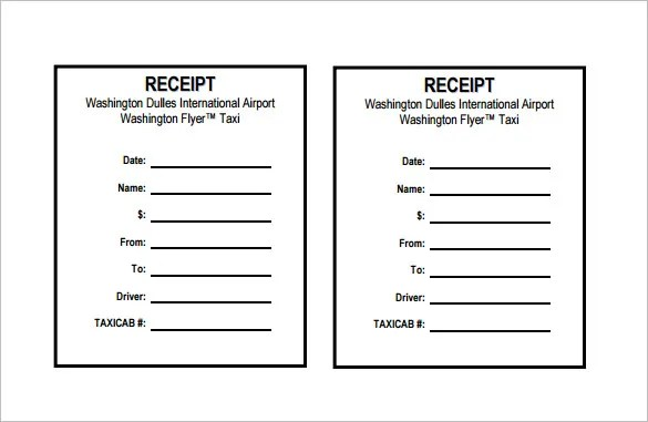 Receipt Template - 122+ Free Printable Word, Excel, PDF Format - create a receipt in word