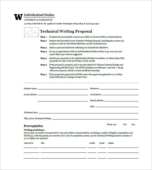 Technical Project Proposal Template. rfp proposal template for ...