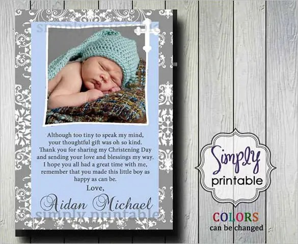 21+ Christening Thank You Cards - Free Printable PSD, EPS, Indesign