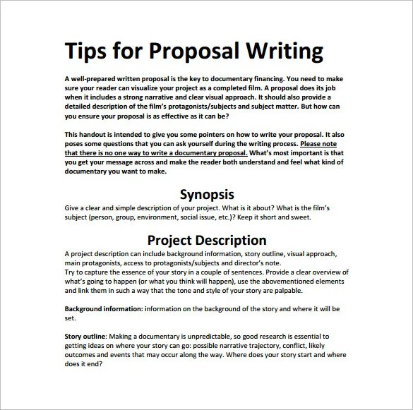 15+ Writing Proposal Templates - Free Sample, Example, Format - proposal sample