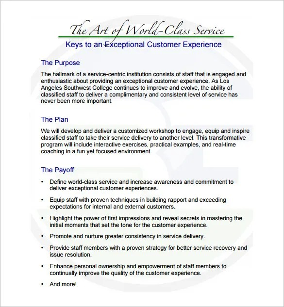 Training Proposal Templates - 32+ Free Sample, Example, Format - proposal for services example
