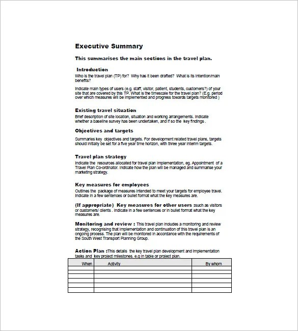 Travel Business Plan Template \u2013 11+ Free Word, Excel, PDF Format