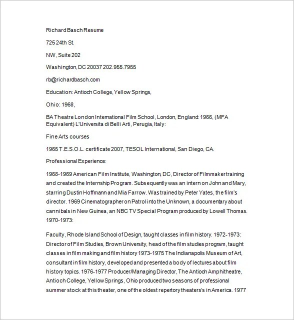 Photographer Resume Template \u2013 17+ Free Samples, Examples, Format - resume for photographer