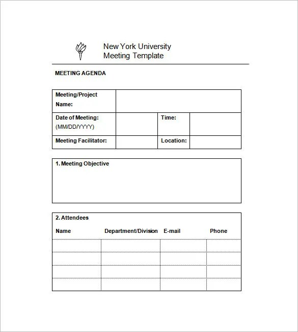 14+ Project Meeting Minutes Template -Google Docs, Word, Apple Pages