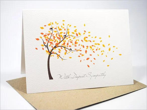 Sympathy Card Template - 17+ Free Sample, Example Format Download - condolence template