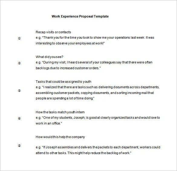 Work Proposal Template \u2013 11+ Free Word, Excel, PDF Format Download - It Proposal Template