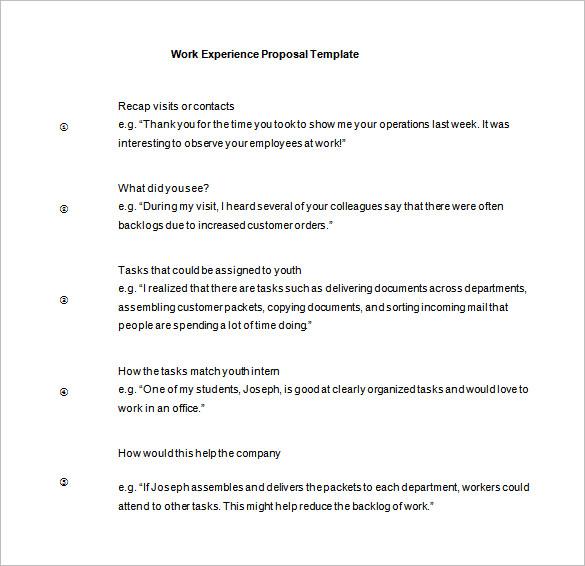 Work Proposal Template \u2013 11+ Free Word, Excel, PDF Format Download
