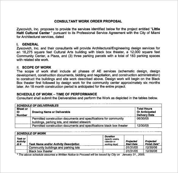 Work Proposal Template \u2013 11+ Free Word, Excel, PDF Format Download - work proposal