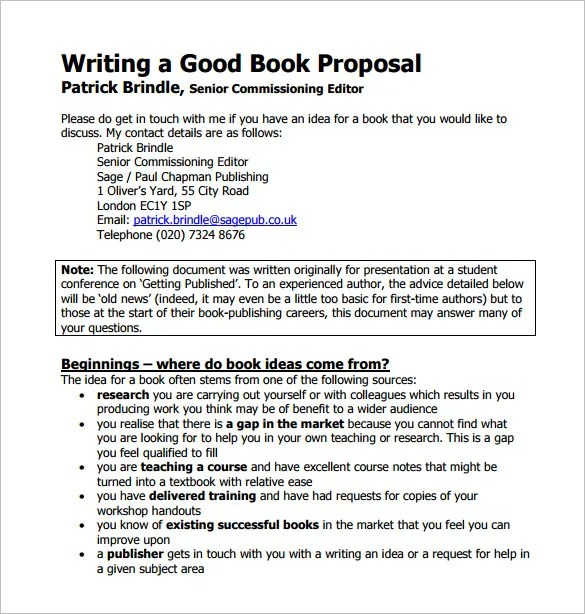 Book Proposal Template - 14+ Free Word, Excel, PDF Format Download - book proposal sample