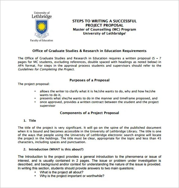 Writing Proposal Templates u2013 19+ Free Word, Excel, PDF Format - project proposal template