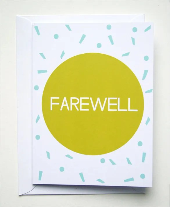 Farewell Card Template - 23+ Free Printable Word, PDF, PSD, EPS