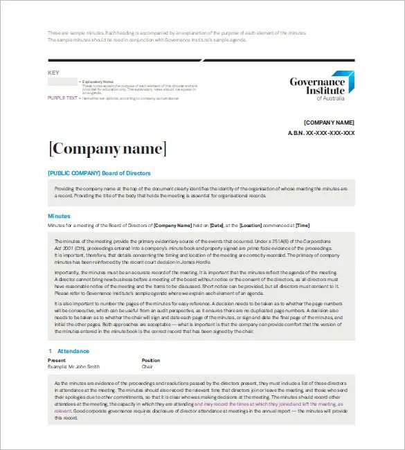 Board Meeting Minutes Templates u2013 11+ Free Word, Excel, PDF - free meeting minutes template word