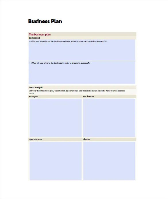 Small Business Plan Template - 15+ Word, Excel PDF, Google Docs