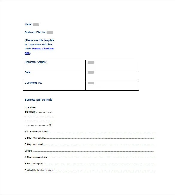 Microsoft Business Plan Template - 17+ Free Example, Sample Format