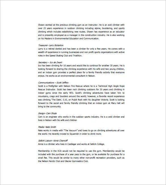 Gym Business Plan Template - 13+ Free Word, Excel, PDF Format - business proposal document template