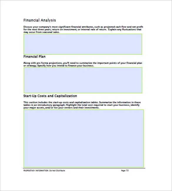 Financial Business Plan Template - 13+ Free Word, Excel, PDF Format - financial business plan template