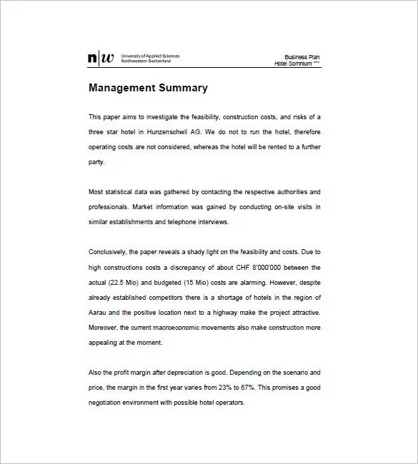 12 + Hotel Business Plan Templates - PDF, Google Docs, MS Word