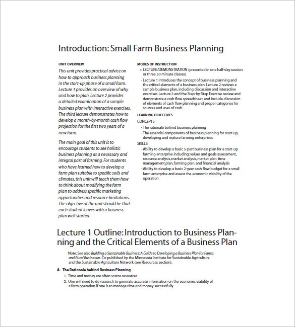 Small Business Plan Template \u2013 12+ Free Word, Excel PDF Format - Small Business Plan