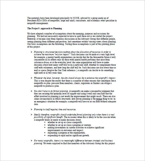 Non Profit Business Plan Template - 7+ Free Word, Excel, PDF Format