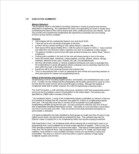 Retail Business Plan Template u2013 13+ Free Word, Excel, PDF Format - retail business plan template