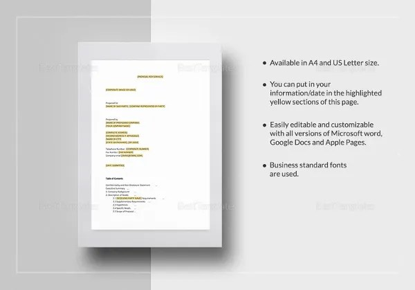 Word Document Proposal Template - Faceboul - event proposal template doc