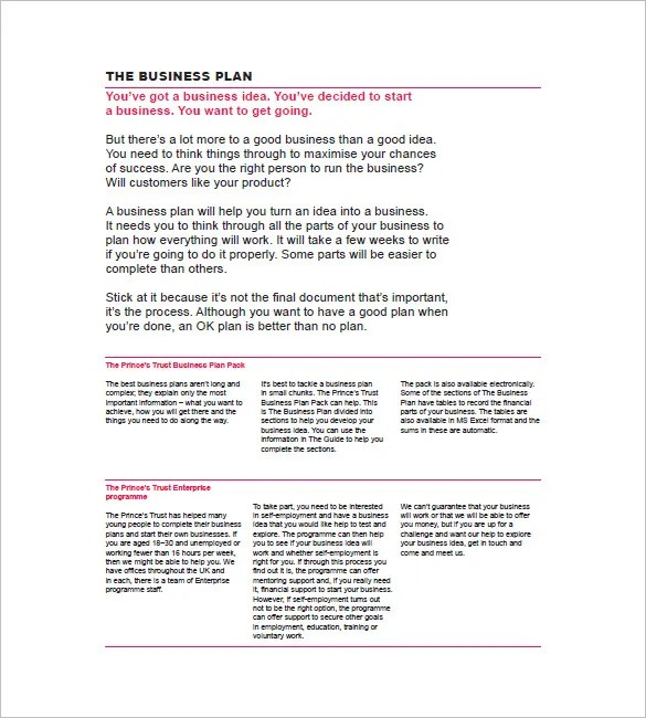 Simple Business Plan Template \u2013 20+ Free Sample, Example Format
