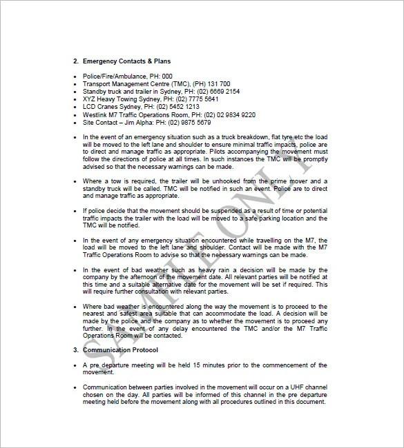 Trucking Plan Business Template u2013 10+ Free Word, Excel, PDF Format - service plan templates