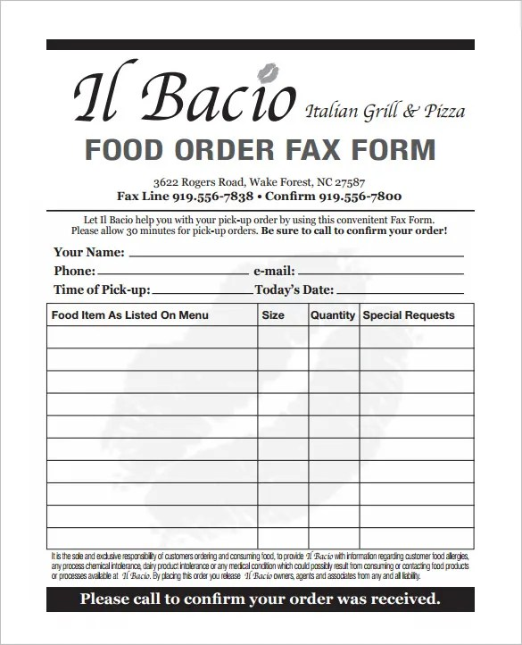 product order form template word - Vatozatozdevelopment