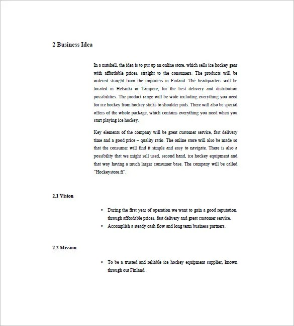 Simple Business Plan Template Easy Business Plan Template Free - business plans sample