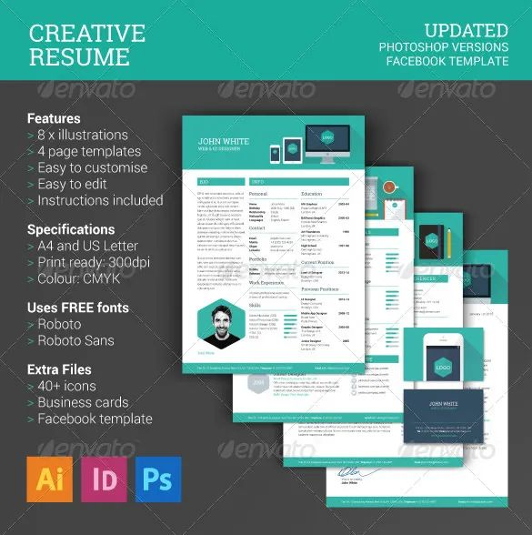 creative cv psd free download